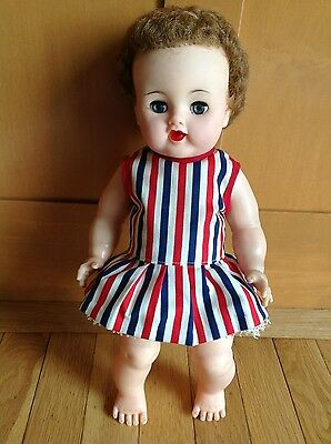 Vintage Ideal Betsy Wetsy Doll W/ Rooted Hair W/ Dress/ Slip