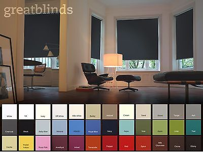 Child Safe Quality Made To Measure Thermal Blackout Blinds Choice Of 36 Colours