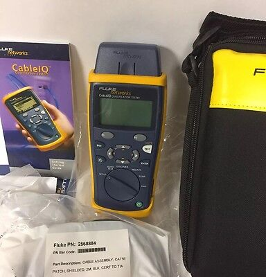 BRAND NEW Fluke Networks Cable Tester CIQ 100 IQ Qualification Tester NIB [2/3]
