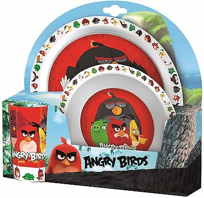 Angry Birds Melamine cup, bowl & plate breakfast / dinner Set