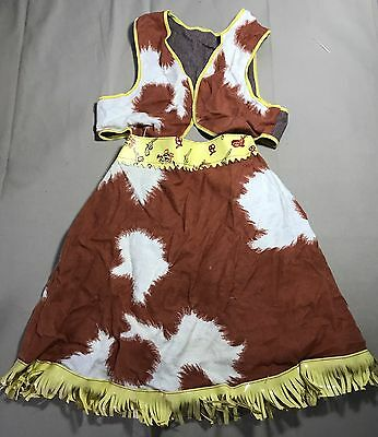 Vintage 50s 60s Cowgirl Childs costume play skit vest Halloween Cowboy Ranch