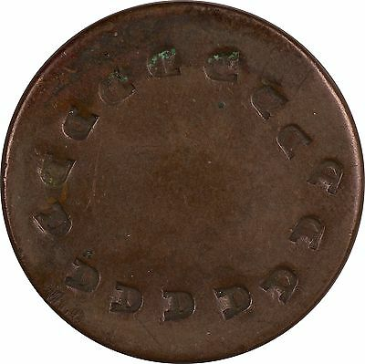 """Counter Stamped US Large Cent - Circle of """"D""""s  - NO RESERVE!!!"""