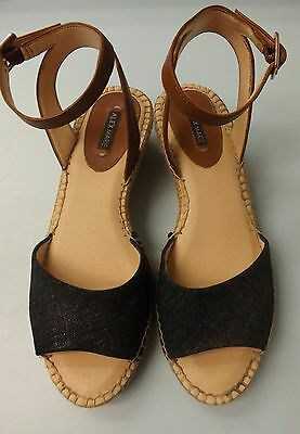 Alex Marie women's wedge sandals rope wedge leather EUC size 7M