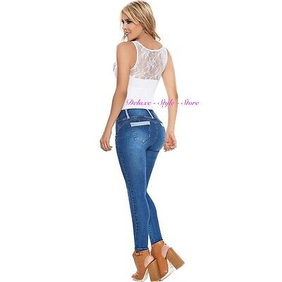 0814c5d471d3a Laty Rose 2017 Jeans Colombianos Levanta Cola Blue Denim Butt Lifter Jeans.  New