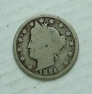 LIBERTY Nickel; 1884