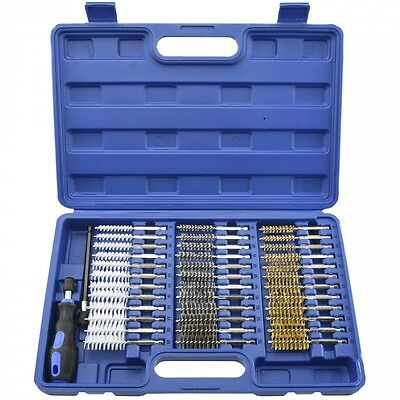 "38pc Industrial Wire Brush Set |1/4"" Hex Shank Long Ext. Stainless Steel(00325A)"