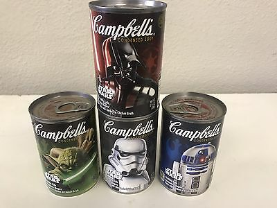 star wars campbell soup Set Of 4