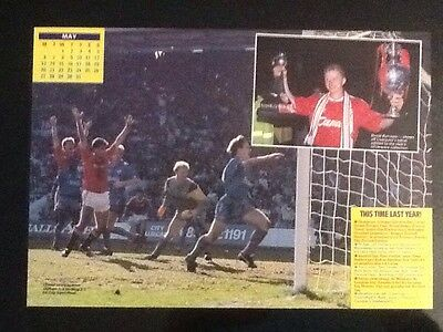 A4 Football action picture/poster Man Utd Goal FA CUP S/F v Oldham (3-3)