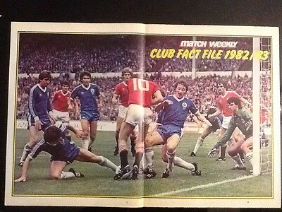 Stunning A3 Football FA CUP FINAL action picture/poster Brighton v Man Utd 1983