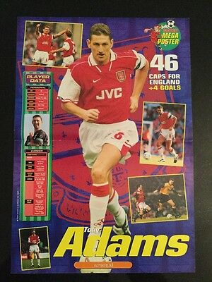 STUNNING A3 Football picture/poster TONY ADAMS, Arsenal + England (1983-2002)