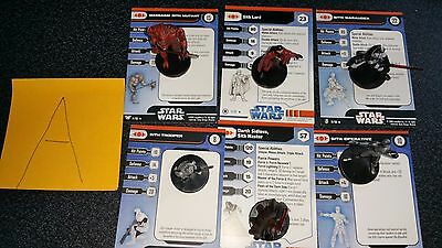 A Star Wars Miniatures Sith SIdious Lord Marauder Mutant Trooper Operative