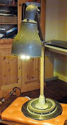 Vintage Industrial Machinist'S Angle Bench/desk Lamp