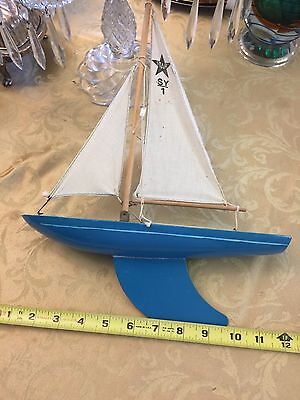 Rare Vintage England Pond Boat Model Ship Birkenhead Star Yacht Sale