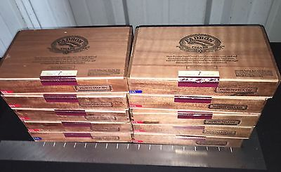 Padron Delicias Empty Wooden Cigar Boxes! Lot Of 10! B