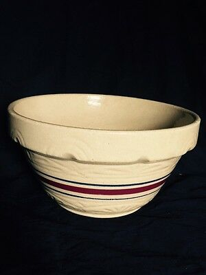"""R.r.p Co Roseville Ohio Usa 10"""" Mixing Bowl Light Brown Sand"""