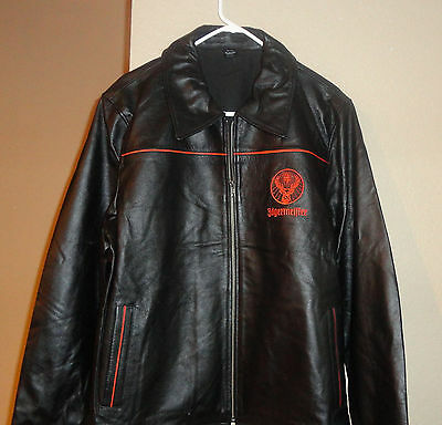 Jagermeister Leather Jacket ....brand New.....size Large.....great Looking