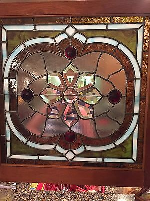 leaded stain glass 28 x 28
