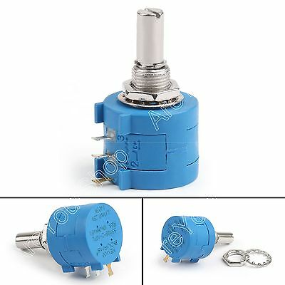 4× 3590S-2-103L 10K Ohm Rotary Wirewound Precision Potentiometer Pot 10 Turn US