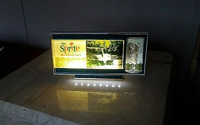 1960's Sprite Bubbling Light Store Display Sign Soda Pop Advertising Coca Cola