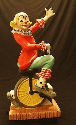 Vintage Toscany Collection Figurine Clown Riding a Unicycle Circus Performer