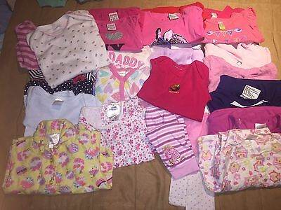 Mixed Lot (24 Items) Baby Girl Winter/spring Clothes Sz 0 Mixed Brands