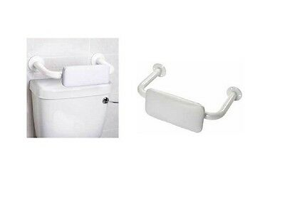 White Disabled Toilet Padded Backrest Bathroom Bath Support Mobility Aid