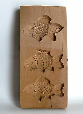 Model Holzmodel Backform Druckplatte Butterform Spekulatiusform Fische