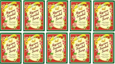 Original Mysore Sandal / Sandalwood Soap 75g x 10pc NEW STOCK Export Quality