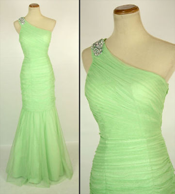 NWT HAILEY LOGAN $155 SAGE Prom Party Evening Gown 9