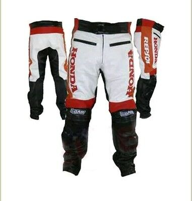 Honda Repsol Gas Motorbike Leather Trouser (Pants)- Ce Approved Full Protection