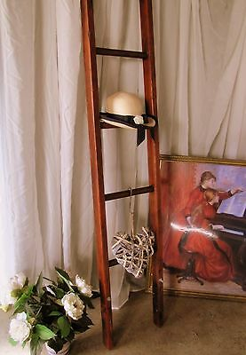Antique french ladder library Solid timber Vintage Kitchen Pots Hang 1940s