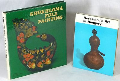 2 Books: Eastern European Woodenware Folk Art: Khokhloma & Herdsman Carving