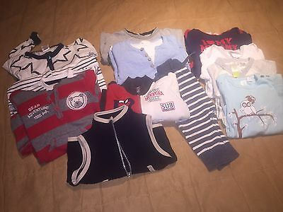 Mixed Lot (12 Items) Baby Boy Winter/spring Clothes Sz 0 Mixed Brands