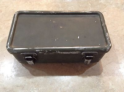 Vintage U.s. Army Military First Aid Kit Metal Box