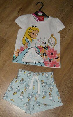 Ex store 18-24 months Alice in Wonderland girls short pyjamas BNWT