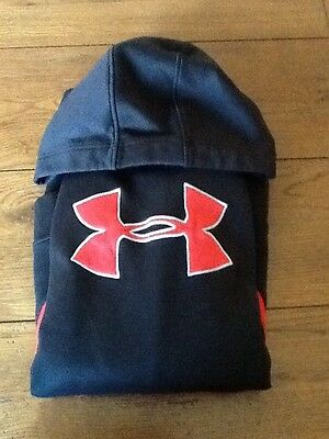 Boy's Under Armour Black/Red Yxl/Youth XL Hoodie Pullover Sweatshirt