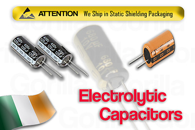 NEW Electrolytic Radial Capacitors Various Voltage Values High Quality Capacitor