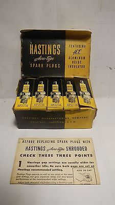 Vintage Antique Hastings 10-300 Spark Plugs - Set of 10 WITH BOX!!  Rare!!