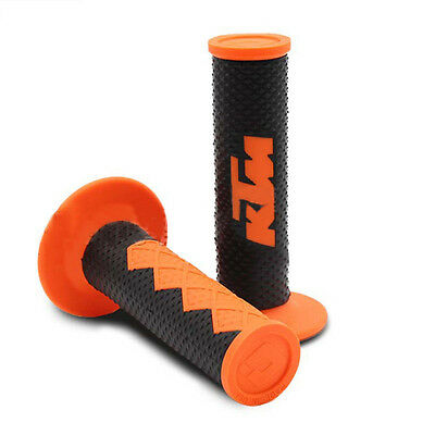 "Orange KTM Handle Grip Motorcycle High Quality Dirt Pit Bike Motocross 7/8"" Hand"