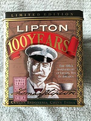 Vintage, Lipton Tea Tin, New In Box, 100 Years Anniversary Edition, 1990