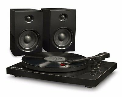 Jam Hx Tb100 3 Speed Turntable With Stereo Speakers Black