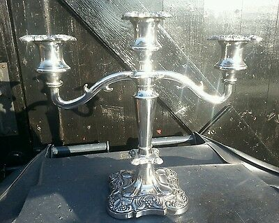 Vintage silver plated candelabra made in england.great condition for age.