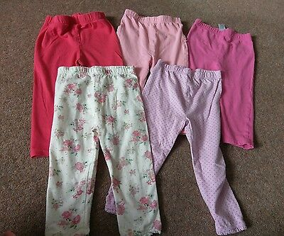 baby girls leggings size 12-18 months- very good/ excellent condition
