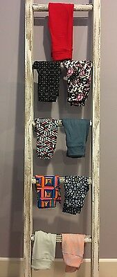 LuLaRoe Leggings Lot of 9: Solid Red Cubes Squares Flowers- Kids S/M - NEW!