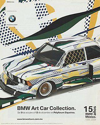 2009 BMW ART CAR COLLECTION w.1977 320i by ROY LICHTENSTEIN COLOR AD MEXICO (SP)