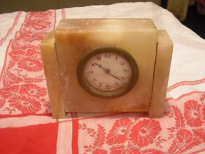Art deco marble miniature clock - not in working order