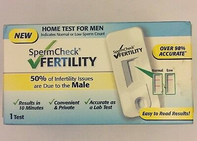 SpermCheck Sperm Check Fertility Home Test For Men Discreet P+P
