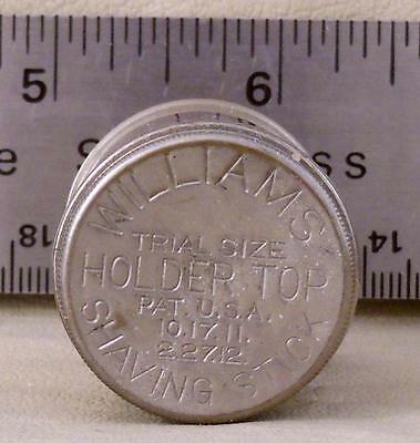 Old Pharmacy Stock  Williams Shaving Stick Trial Size Tin with original contents