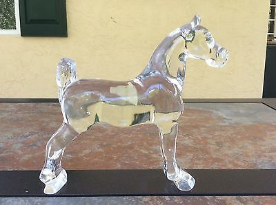 Heisey Glass - Clear Show Horse - Vintage - Animals - Black Light Tested