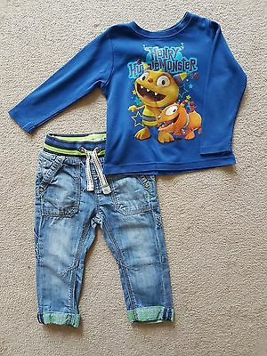 Boys 12-18 months Next jeans and t-shirt outfit